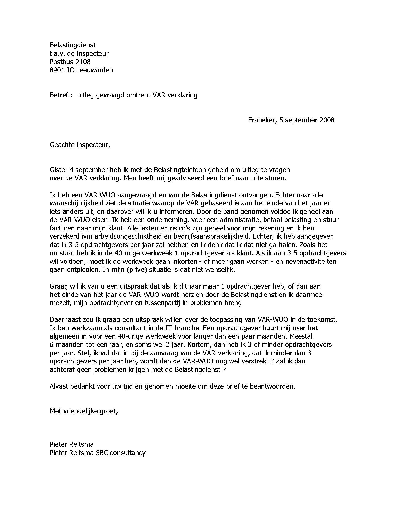 brief schrijven belastingdienst Constructie BV met Stichting Administratiekantoor   Rechtsvormen